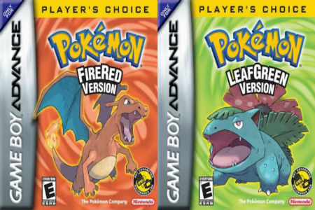 pokemon fire red and leaf green