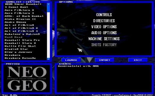 neo geo emulatore
