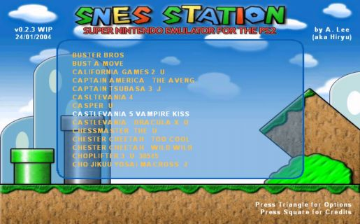 Download SNES-Station Emulator for SNES on PlayStation 2 | Gamulator