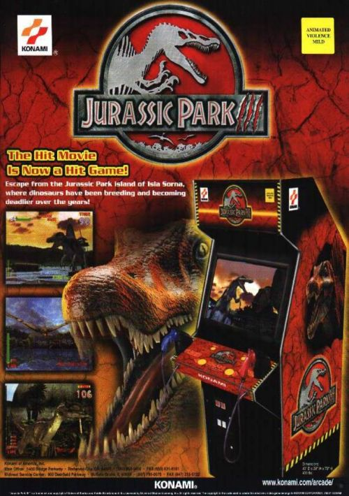 Jurassic Park 3 ROM Download for Mame | Gamulator