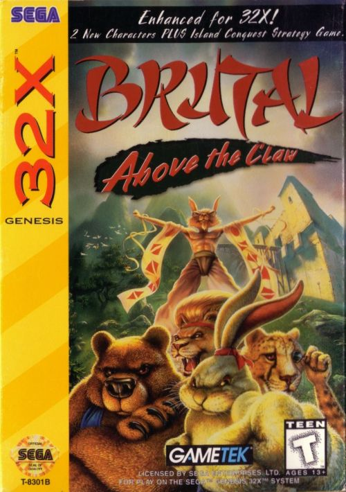 Brutal Unleashed - Above The Claw ROM Download for Sega 32X