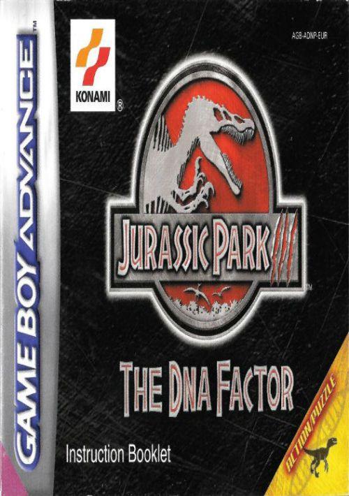 Jurassic Park III - DNA Factor ROM Download for GBA   Gamulator