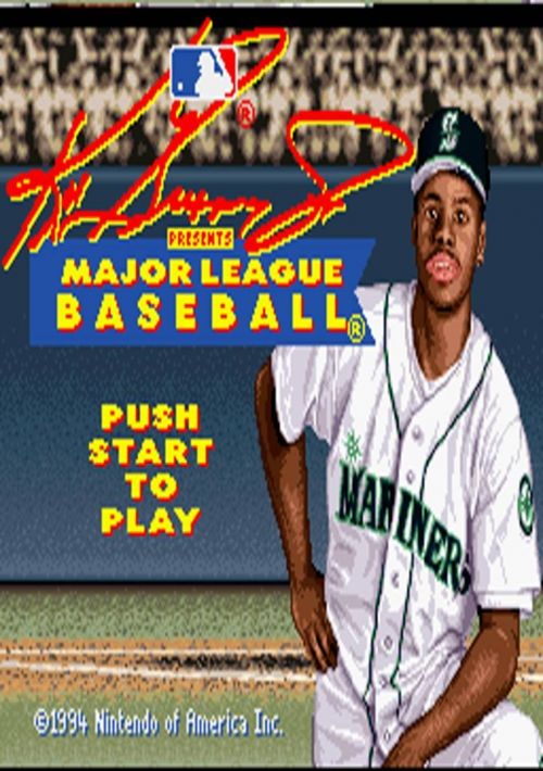4752b56079 Ken Griffey Jr. Presents Major League Baseball ROM Download for SNES ...
