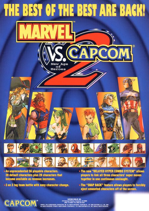 Marvel VS Capcom 2 ROM Download for Mame | Gamulator