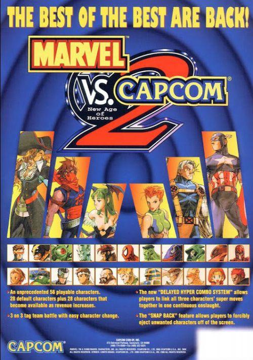 Marvel vs  Capcom 2 ROM Download for Sega NAOMI | Gamulator