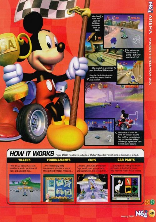 Mickey's Speedway USA ROM Download for N64   Gamulator