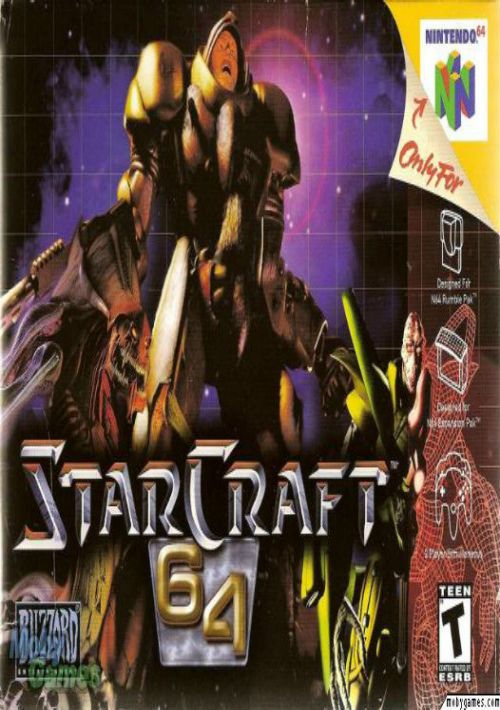Starcraft 64-cover game/top game n64 best