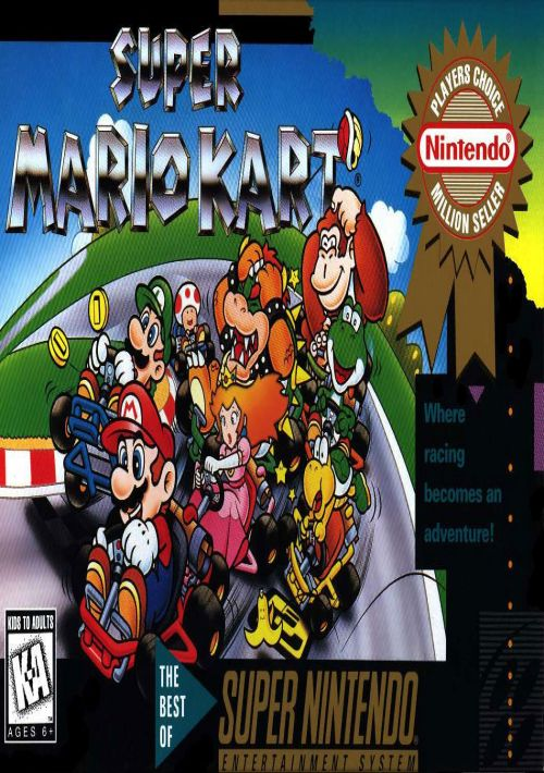 Super Mario Kart (EU) ROM Download for SNES | Gamulator
