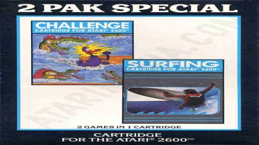 2 Pak Black - Challenge, Surfing (HES) (PAL)