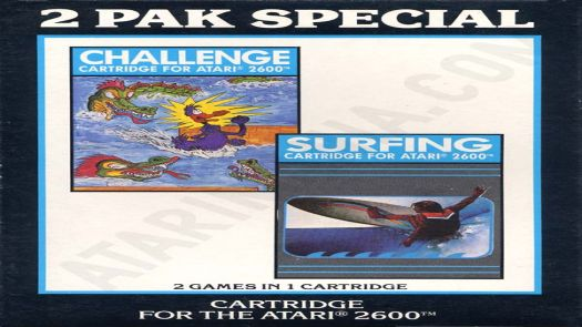2 Pak Special Black - Challenge,Surfing (HES) (PAL) [a1]