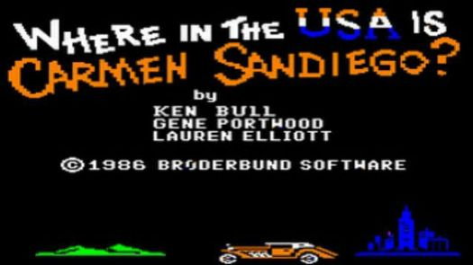 Where In The USA Is Carmen Sandiego (Disk 1 Of 1 Side B)