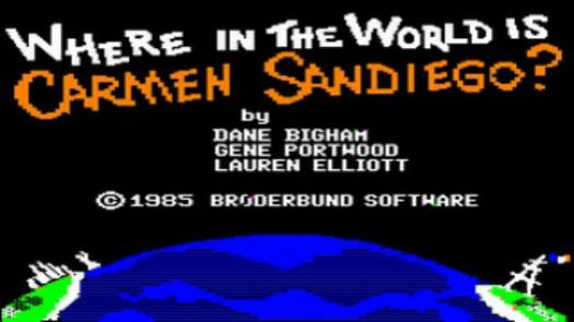 Where In The World Is Carmen Sandiego (Disk 1 Of 1 Side A)